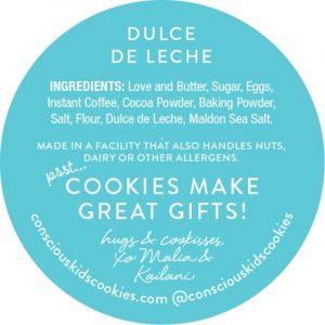 The Dulce de Leche Cookie by Conscious Kids Cookies