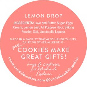 Conscious Kids Cookie lemon drop cookie