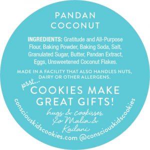 Pandan Coconut Cookie by Conscious Kids Cookies