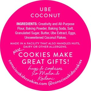 Ube Coconut Cookie by Conscious Kids Cookies